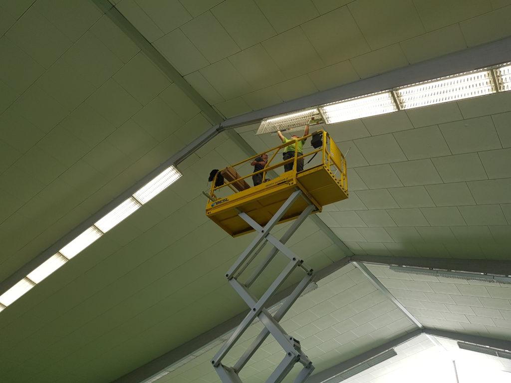 Die Hallensaison kann kommen.  360 neue LED Lampen wurden ausgetauscht....